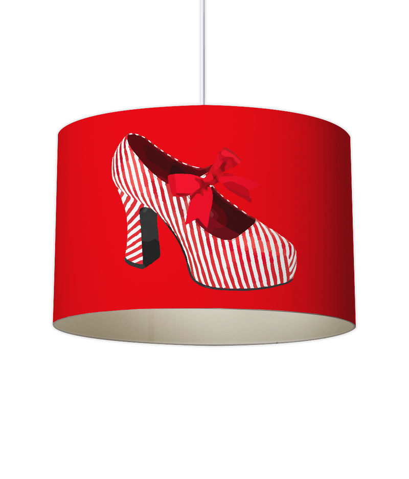 CANDY STRIPED SHOE Lampshade