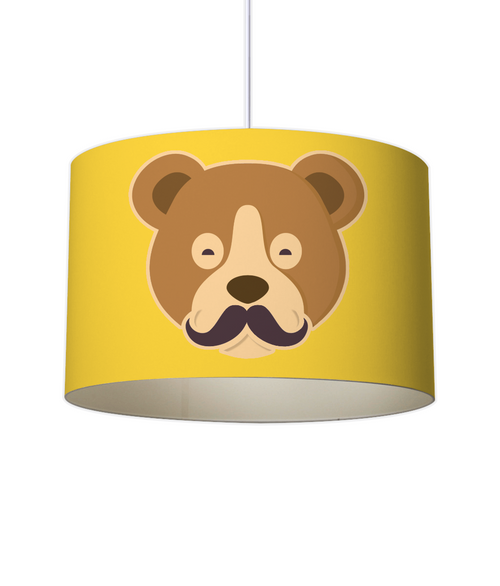MOUSTACHE BEAR Lampshade