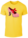 CANDY STRIPED SHOE Tee