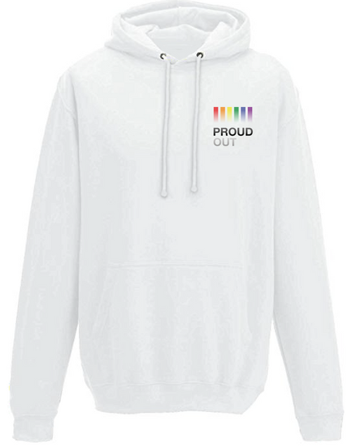 PROUDOUT White Breast Hoodie