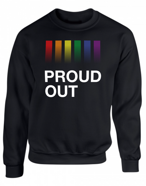 PROUDOUT Black Sweatshirt