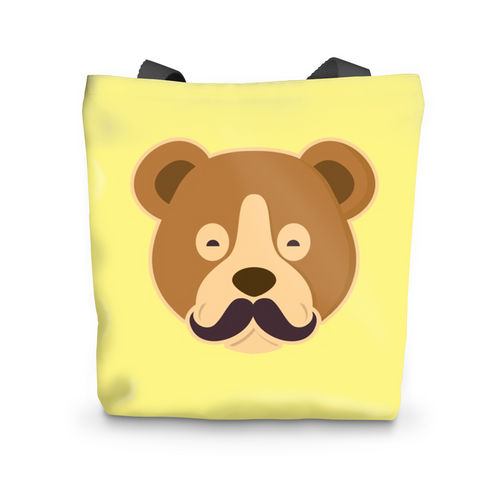MOUSTACHE BEAR Beach Bag