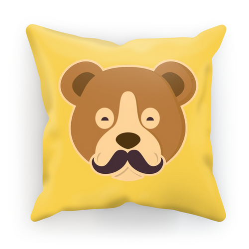 MOUSTACHE BEAR Cushion