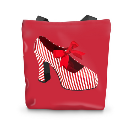 CANDY STRIPED SHOE Beach Bag