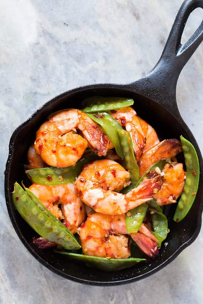 5 Ingredient Honey Chilli Garlic Tiger Prawns