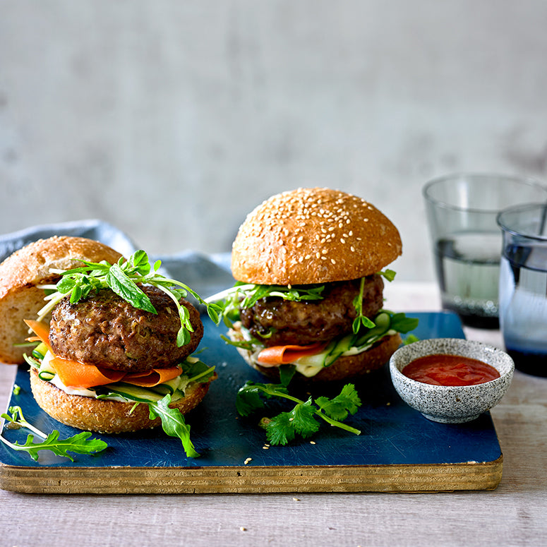 Asian-Style Beef Burgers