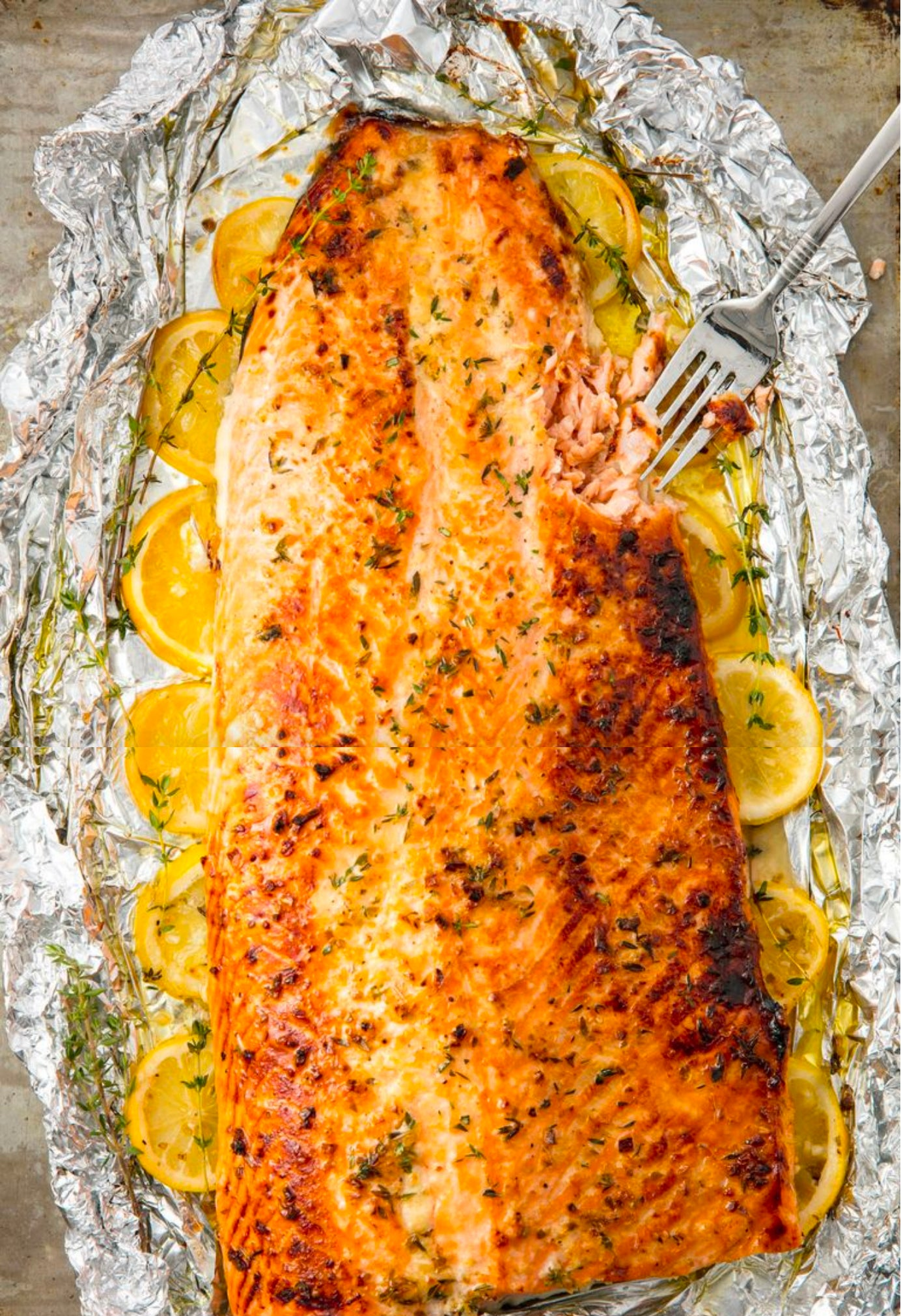 Baked Garlic-Butter Salmon