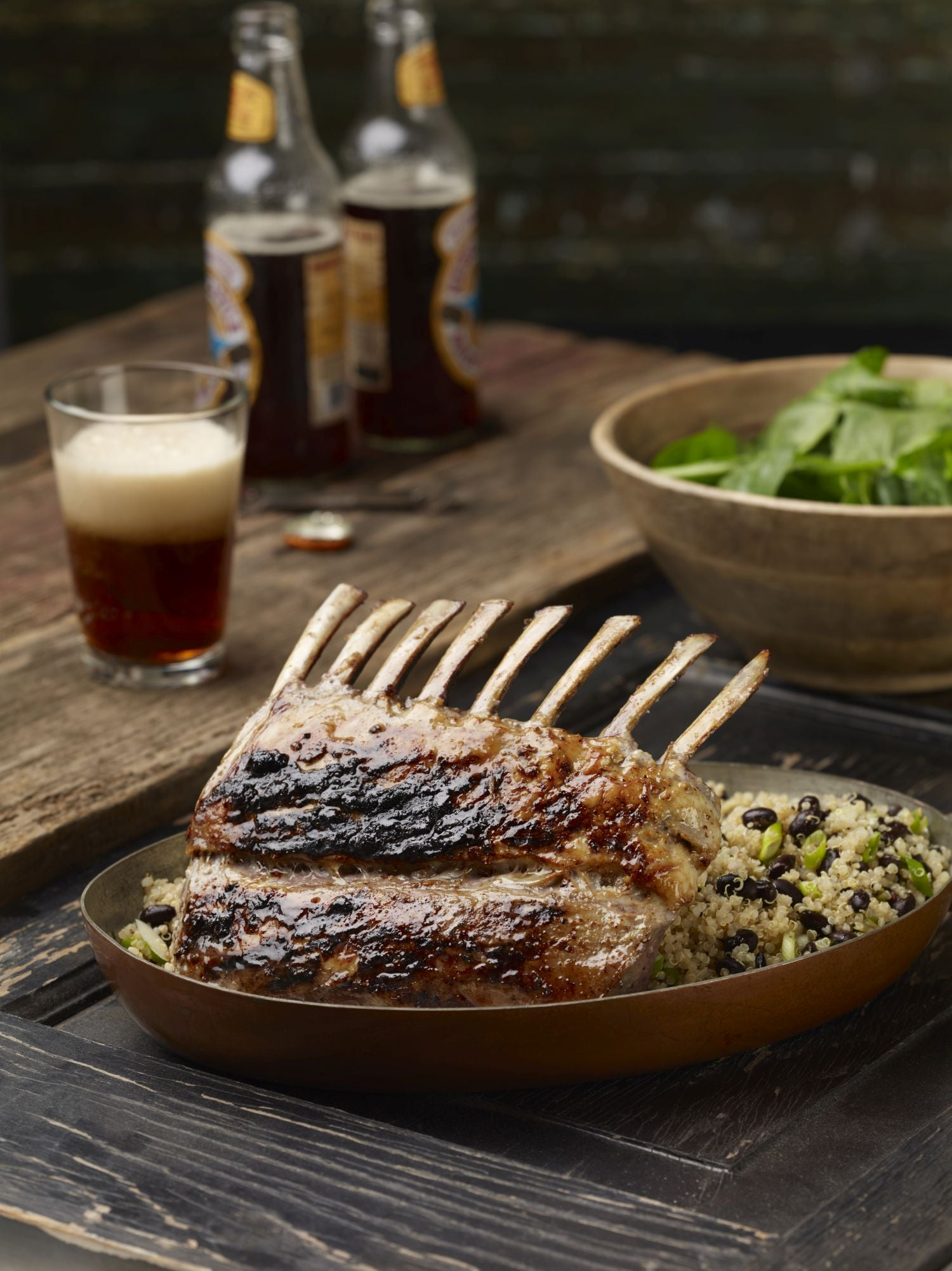 Beer & Mustard-Marinated Rack of Lamb