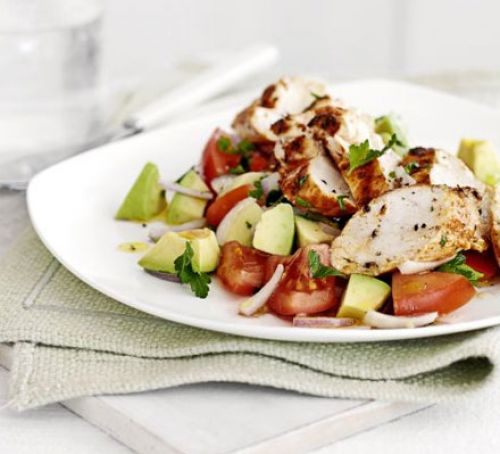 Chicken Breast with Avocado Salad
