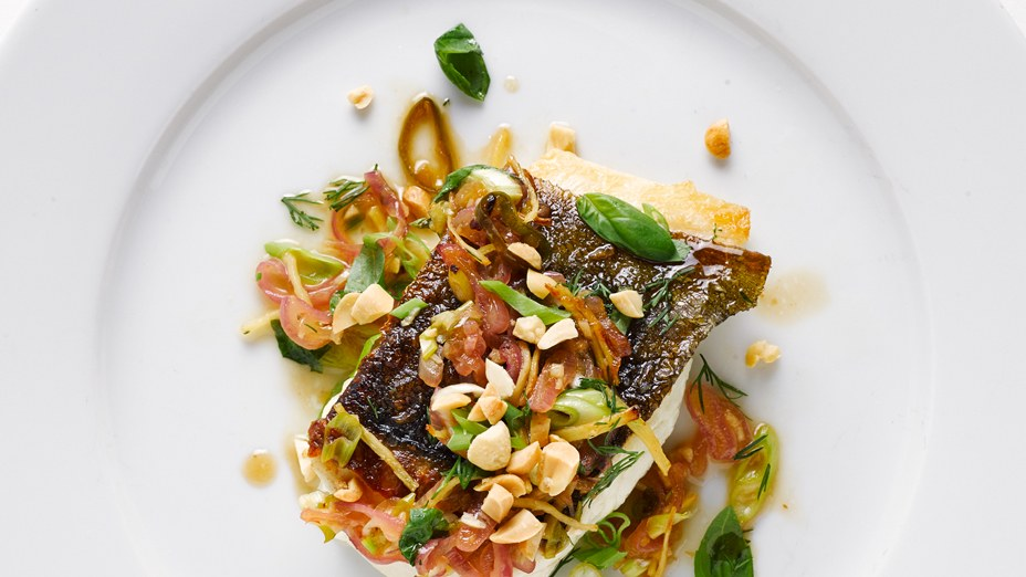 Chilean Sea Bass with Peanuts and Herbs