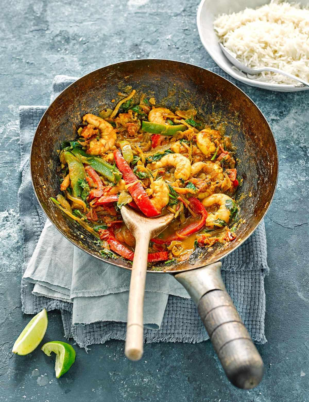 Indian Stir-Fried Prawns