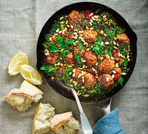 Lemon & fennel pork meatballs