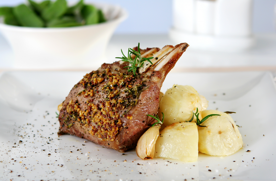 Mustard Crusted Rack of Lamb