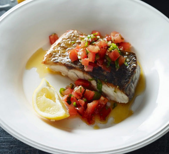 Paleo Pan-Fried Fish with Pico De Gallo Recipe