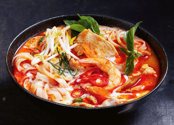 Spicy Chicken and Prawn Laksa