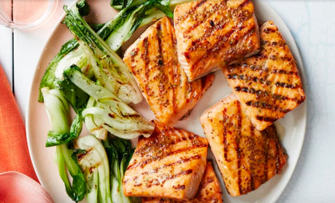 Honey Mustard Glazed Salmon Steaks