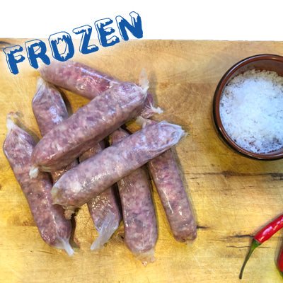 FROZEN 50% Pork 50% Beef Sausages 8 pack - Farmers Market Limited
