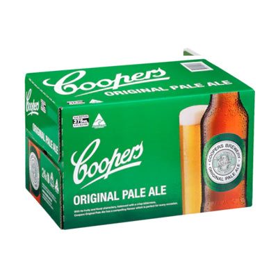 Case of Coopers Pale Ale 24 x 375ml bottles - Farmers Market Limited