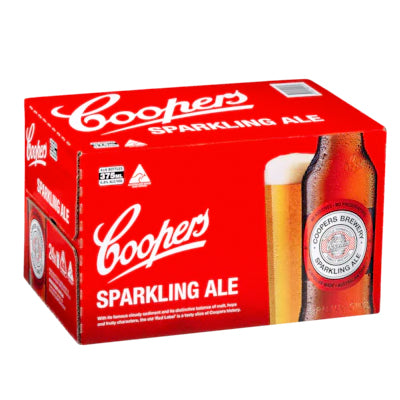 Case of Coopers Sparkling Ale 24 x 375ml bottles - Farmers Market Limited