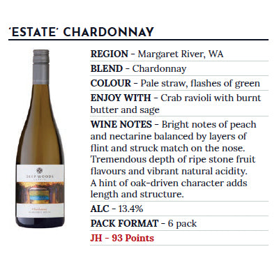 "Deep Woods ""Estate"" Chardonnay - 2018 x 6 bottles - Farmers Market Limited"