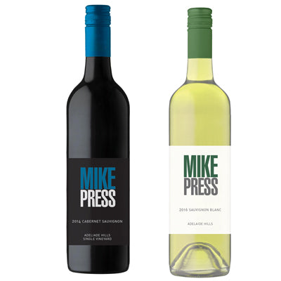 Mixed Dozen Mike Press Cabernet Sav & Sav Blanc 2016 - Farmers Market Limited