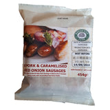 FROZEN Pork & Caramelized Onion Sausages 8 pack - Farmers Market Limited