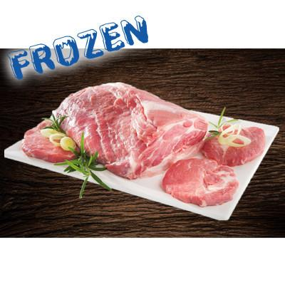 FROZEN 1.5kg Pork Collar Butt RINDLESS- can be portioned into pork scotch steaks. - Farmers Market Limited