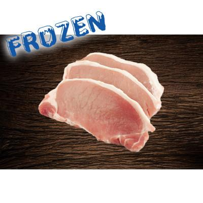 FROZEN 4 x 300gm Pork Midloin Steaks (Sirloin style cut) - Farmers Market Limited