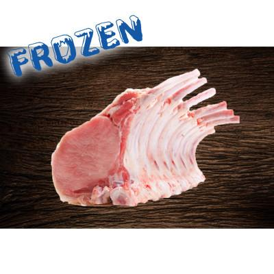 FROZEN 2.4kg Rack of pork RINDLESS- can be portioned to Pork cutlets