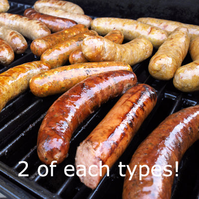 SAUSAGES 2 x beef, 2 x pork/beef & 2 x caramalized onion sausages - Farmers Market Limited