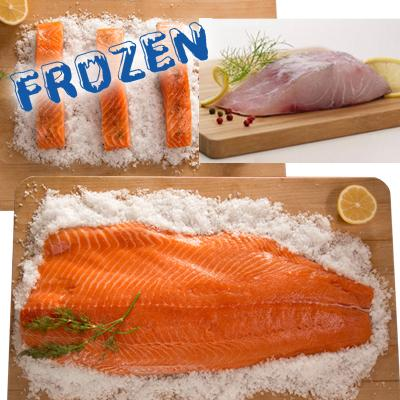 FROZEN Seafood Sensation - 1 whole salmon fillet, 5 portions salmon, 5 portions barramundi, - Farmers Market Limited