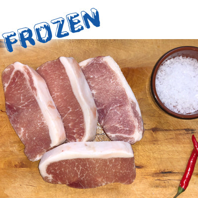 FROZEN Spanish Iberian Pork midloin steaks - 4 x 150gm - Farmers Market Limited