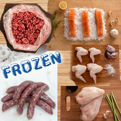 FROZEN Staples 2 - 500gm Beef Mince, 1xPacket beef sausages, 1xChicken Wings, 1xChicken Breast, 5xSalmon - Farmers Market Limited