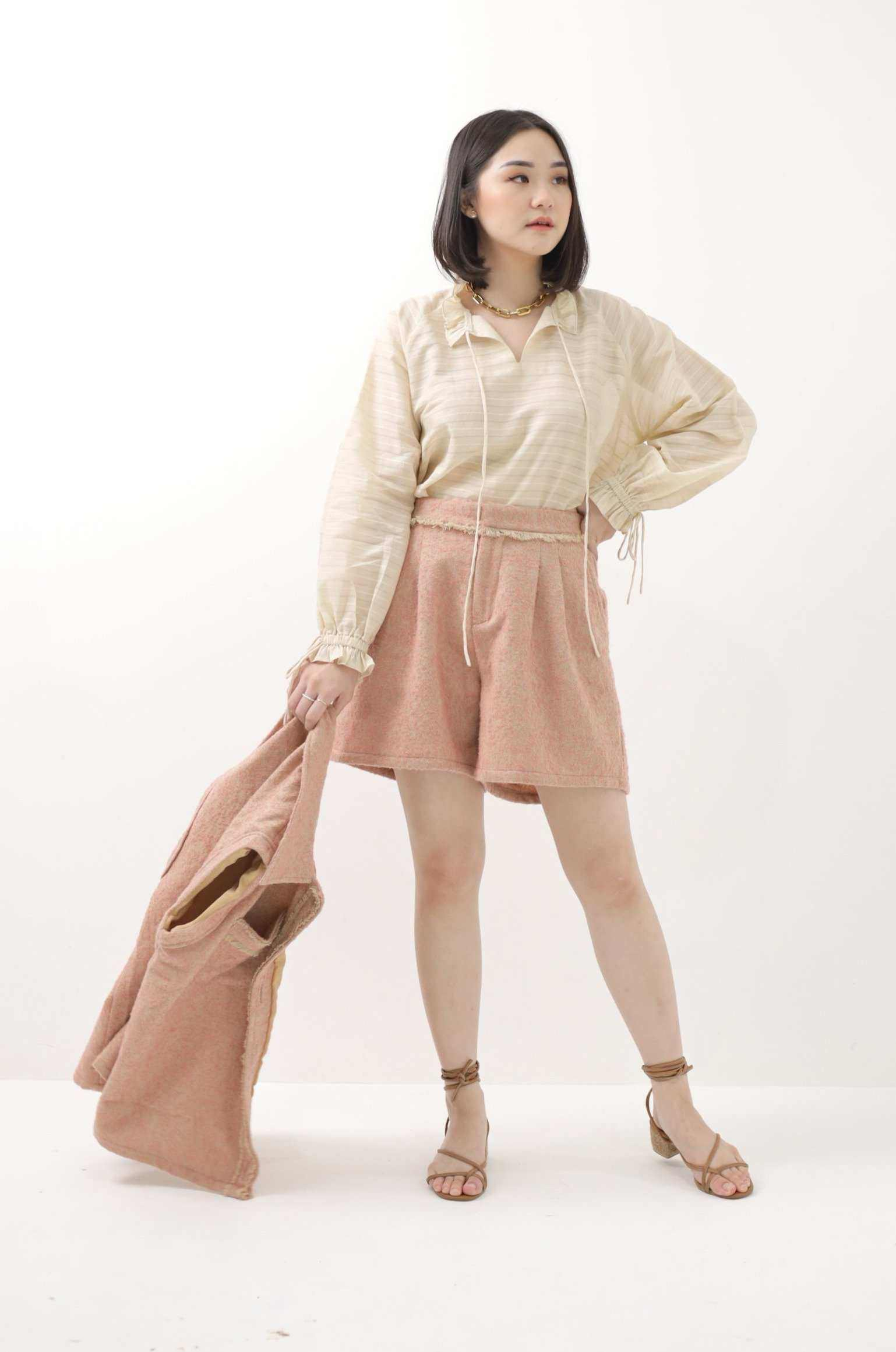 Leona Blouse Camel - EESOME