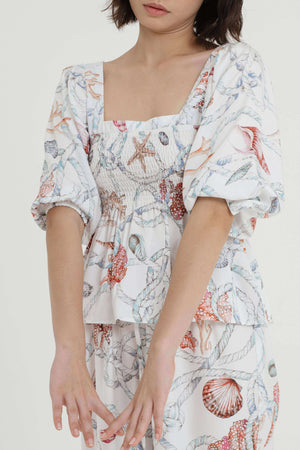 Eva Printed Top - EESOME