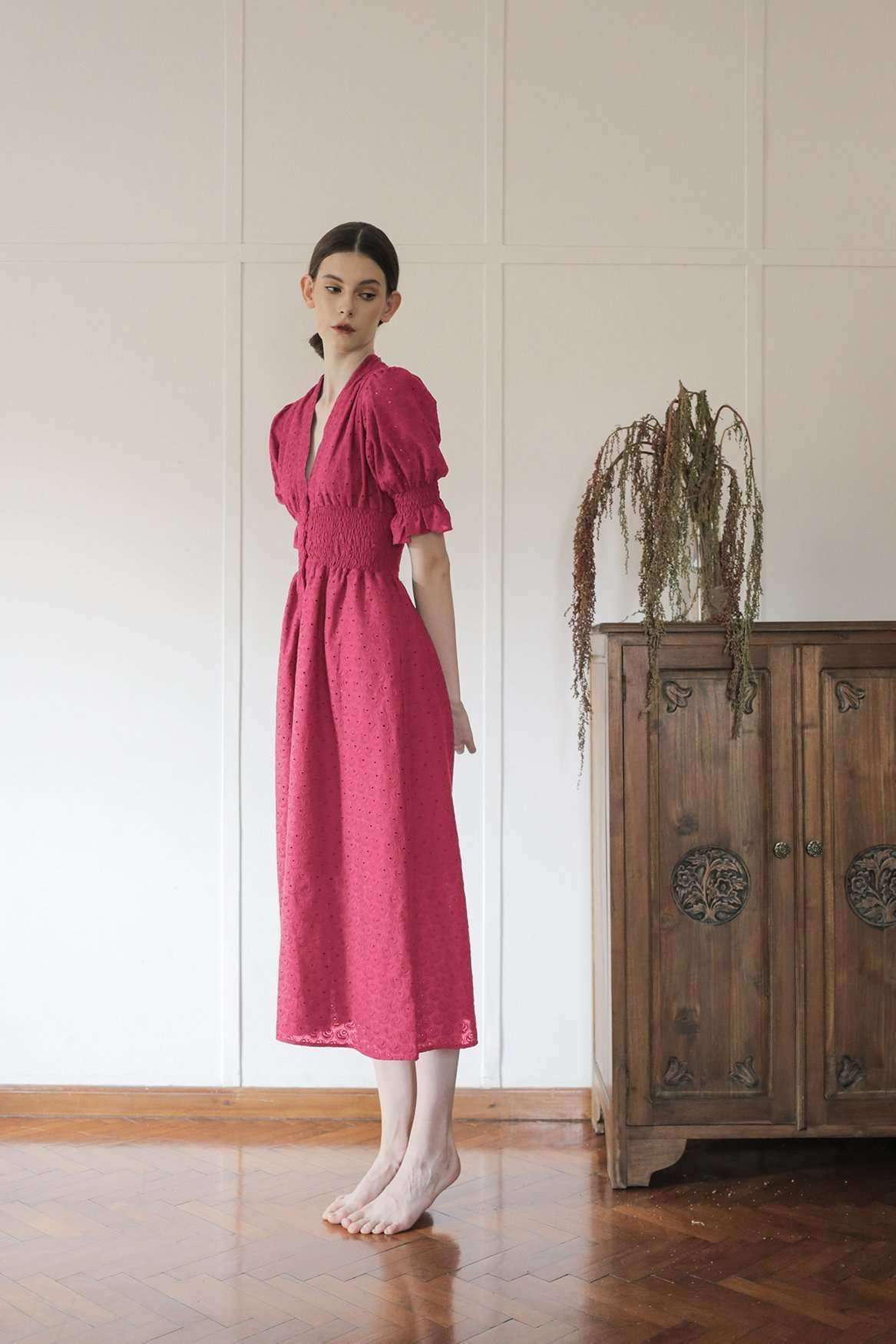 Ally Dress Magenta - EESOME