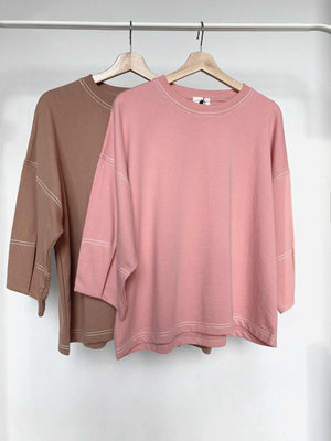 Kana Sweat Blouse Berry - EESOME