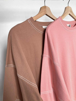 Kana Sweat Blouse Caramel - EESOME