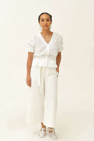 Abigail Top Off White - EESOME