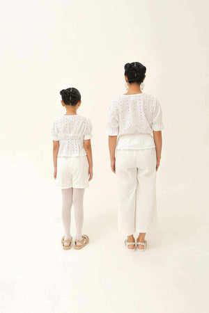 Abigail Petite Top Off White - EESOME