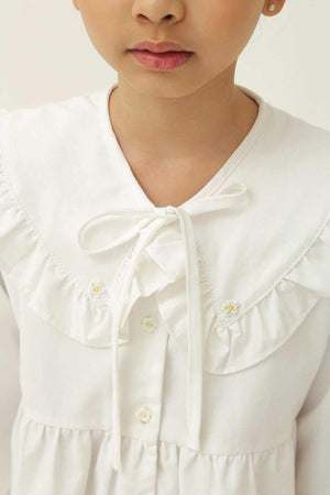 Yale Petite Shirt Off White - EESOME
