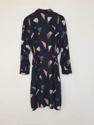 Noel Shirt Dress Abstract Navy EESOME