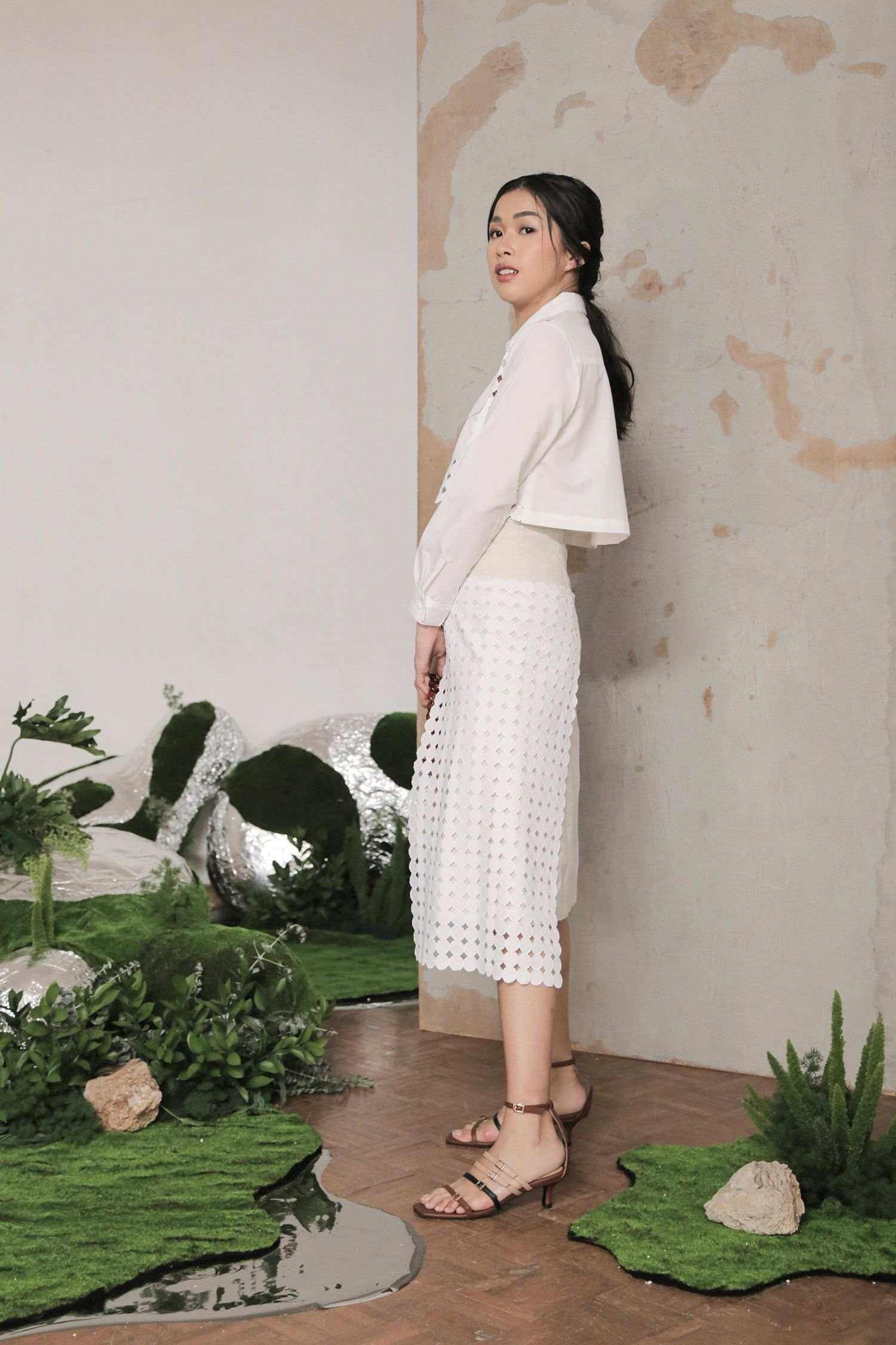 Pola Skirt Off White EESOME