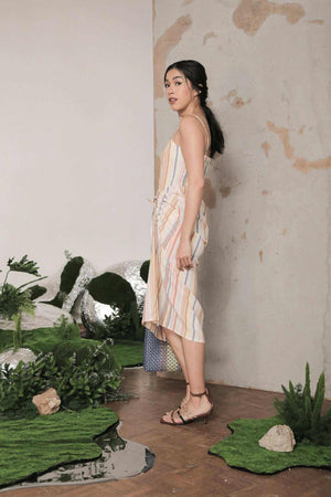 Sarah Dress Multicolor Stripes EESOME