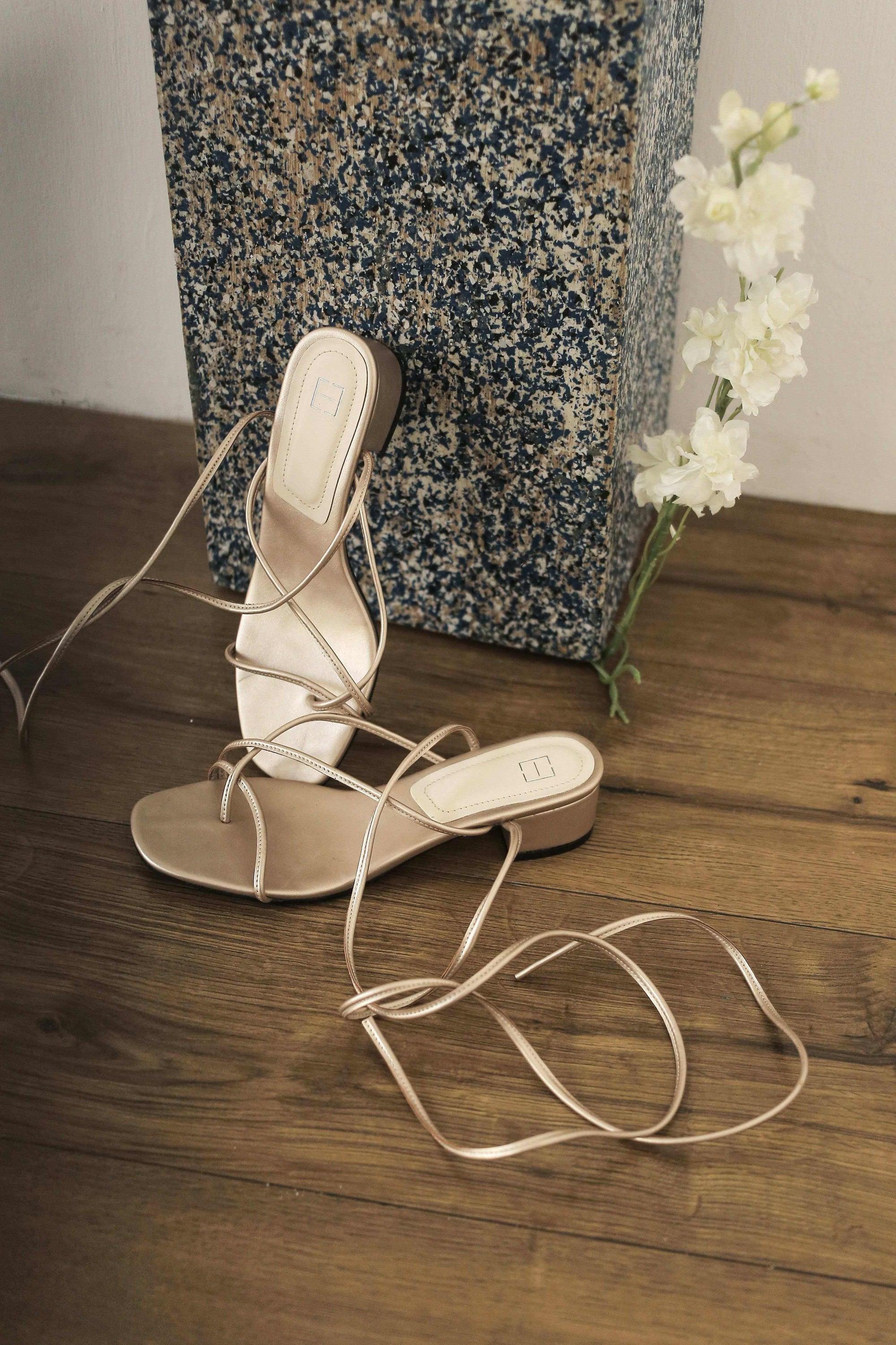 Tali Sandals Rose Gold EESOME