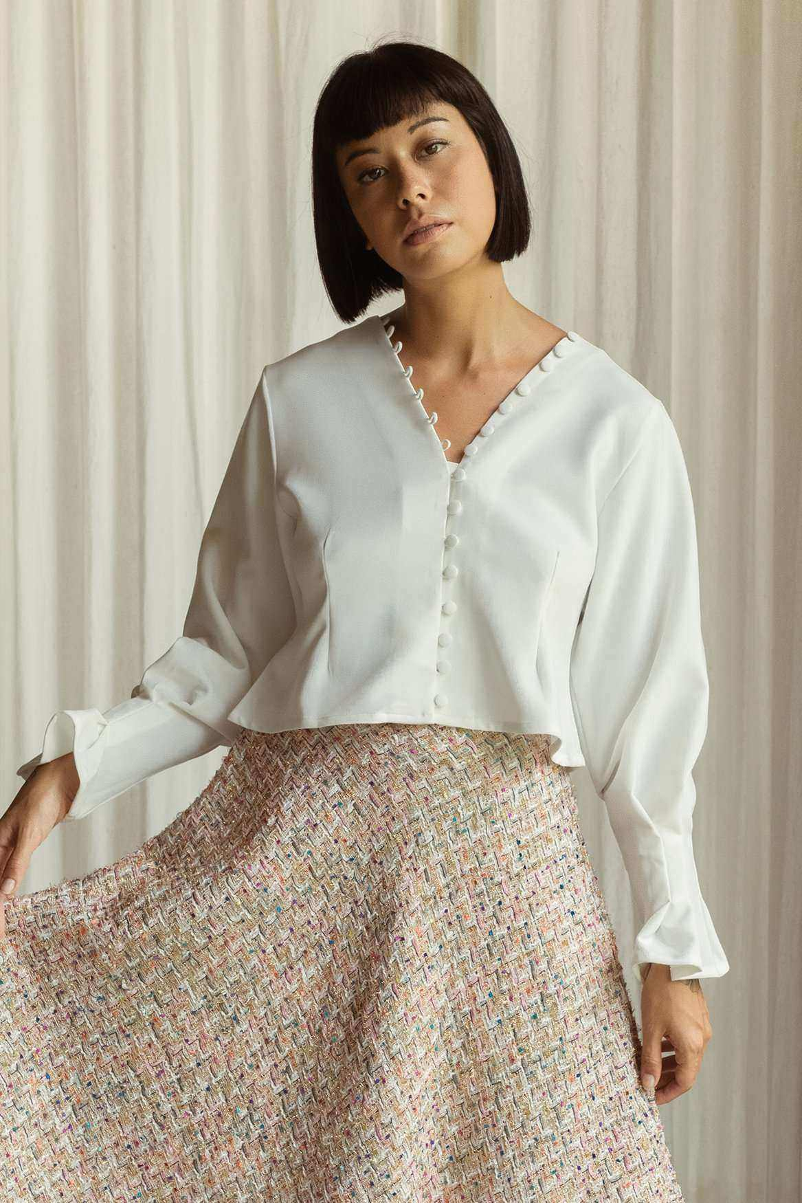 Willow Blouse Off White - EESOME