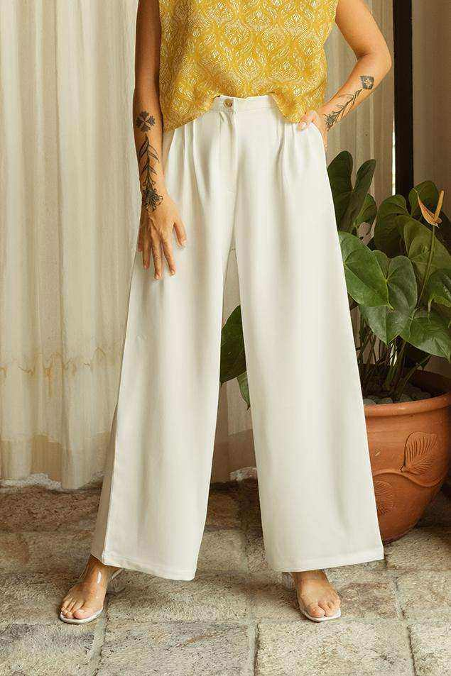 Willow Pants Off White - EESOME