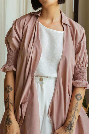 Laurel Shirt Dusty Pink - EESOME