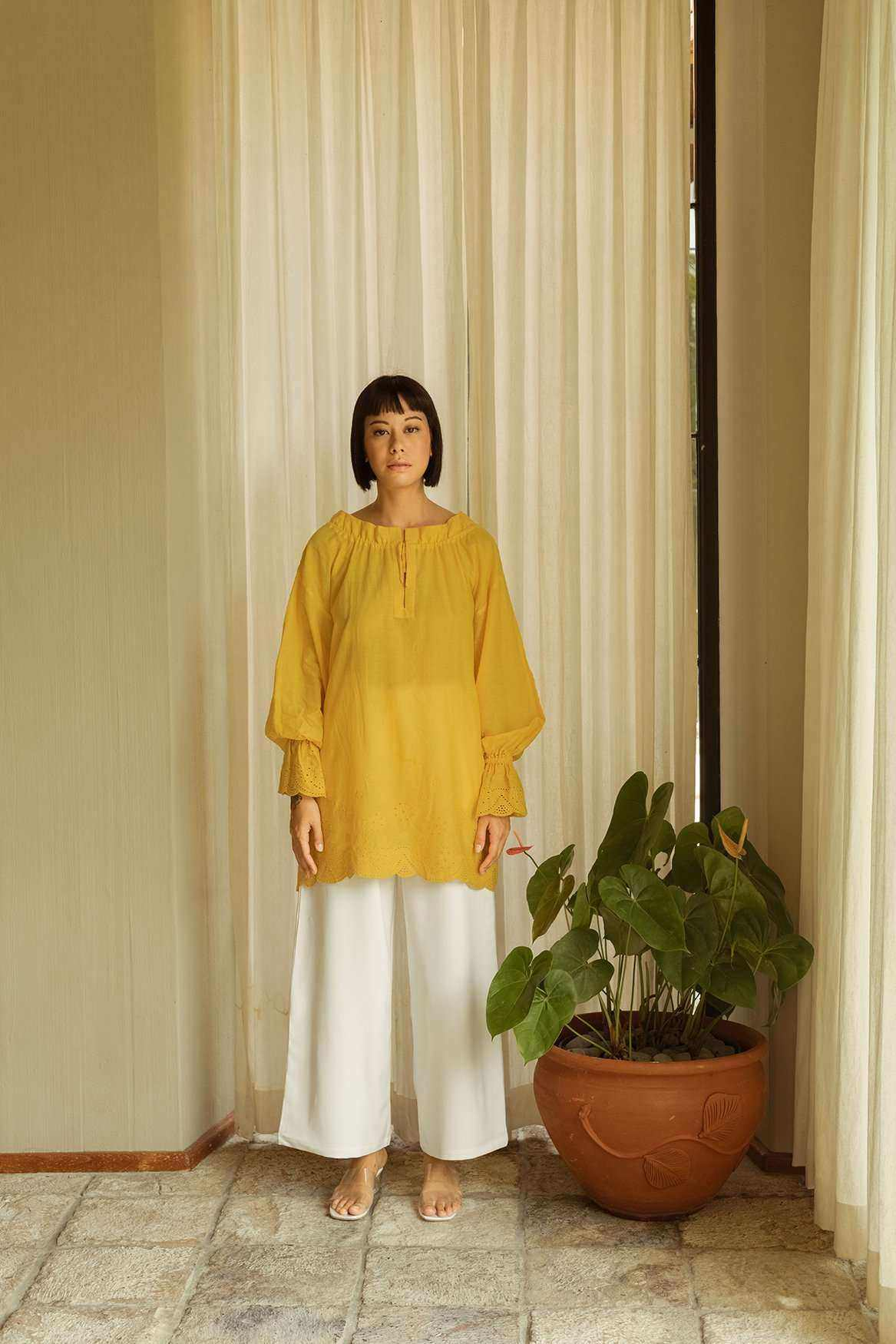 Poppy Blouse Marigold - EESOME