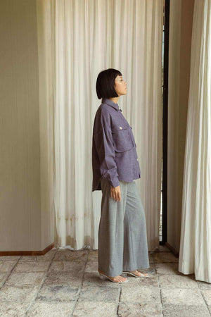 Mila Outer Shirt French Lilac - EESOME